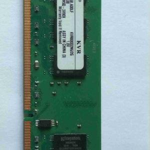 KVR800D2N6 2G Barrette RAM DDR2 800 Kingston 2Gb, latence (CAS) 6, 1.8V, PC6400. Garantie 2 ans, retour produit étendu à 30 jours.