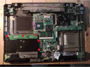 Démontage Carte double SATA pour disque dur DA0GX2HD4B1