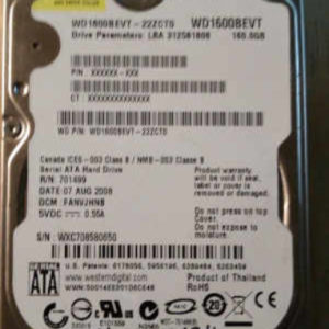 WD1600BEVT-22ZCT0