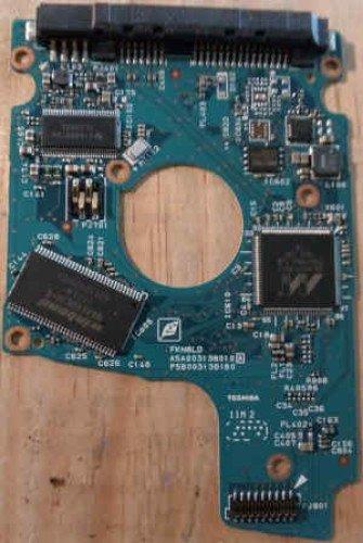 """G003138A PCB Carte contrôleur HDD TOSHIBA F/W AX0A4M, AX003J, AX0A3H 2,5"""" SATA cache 8.1Mb standard ATA8-ACS SATA/150 SATA/300, retour 30 jours, garantie 1 an."""