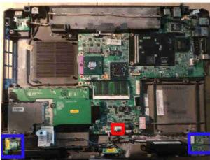 Déconnecter câble du module audio & wifi de la carte mère