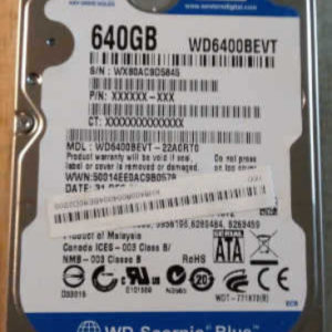 WD6400BEVT-22A0RT0